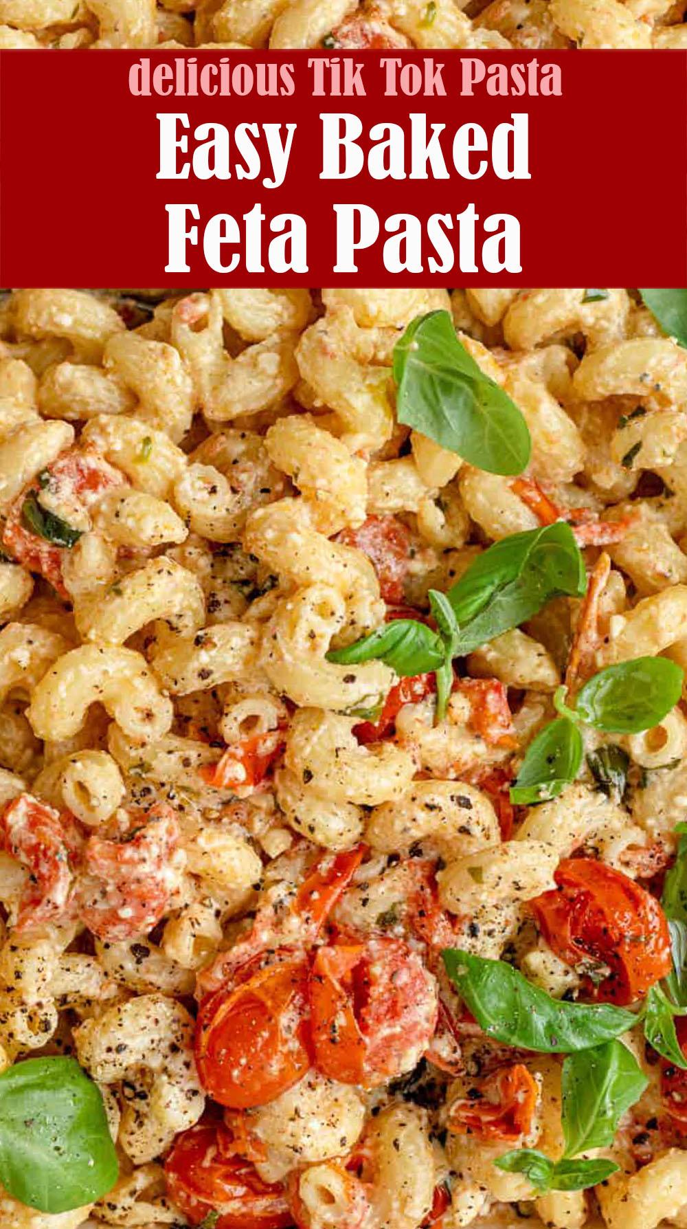 Easy Baked Feta Pasta Recipe